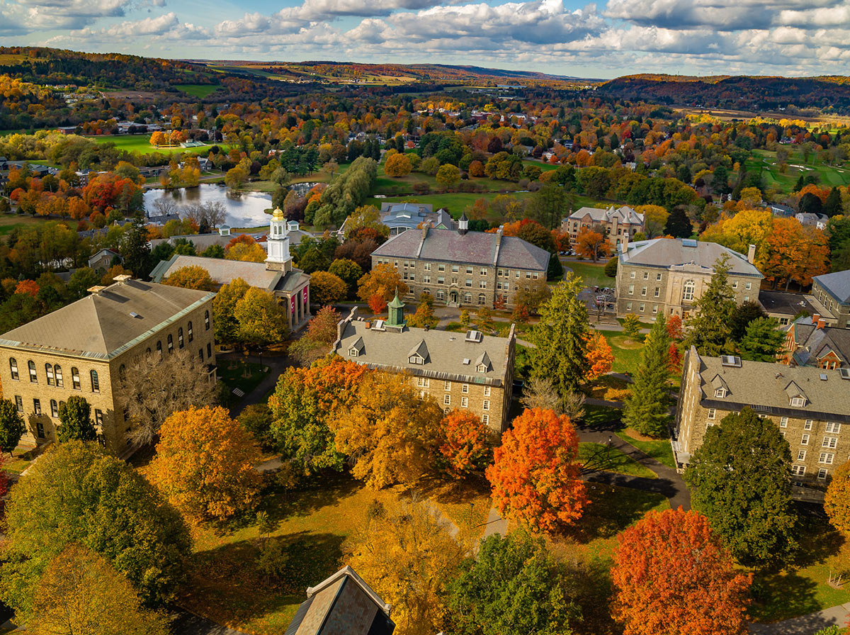 Colorful foliage on colgate's campus