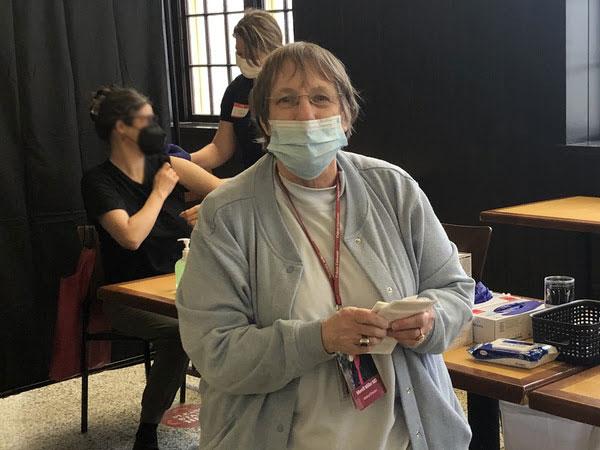 Doc Miller at vaccine pod