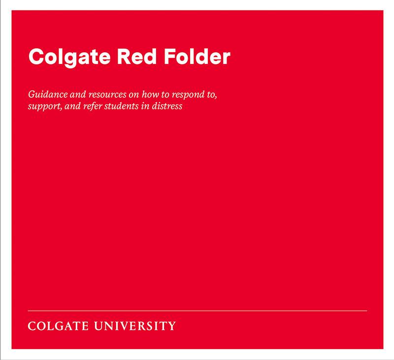 Colgate Red Folder